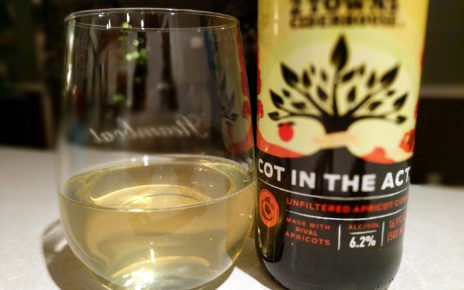 2 Towns Ciderhouse Cot In The Act Unfiltered Apricot Cider