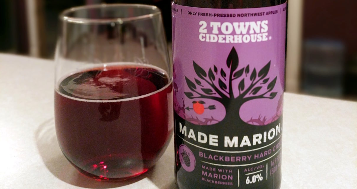 2 Towns Ciderhouse Made Marion Marionberry Hard Cider