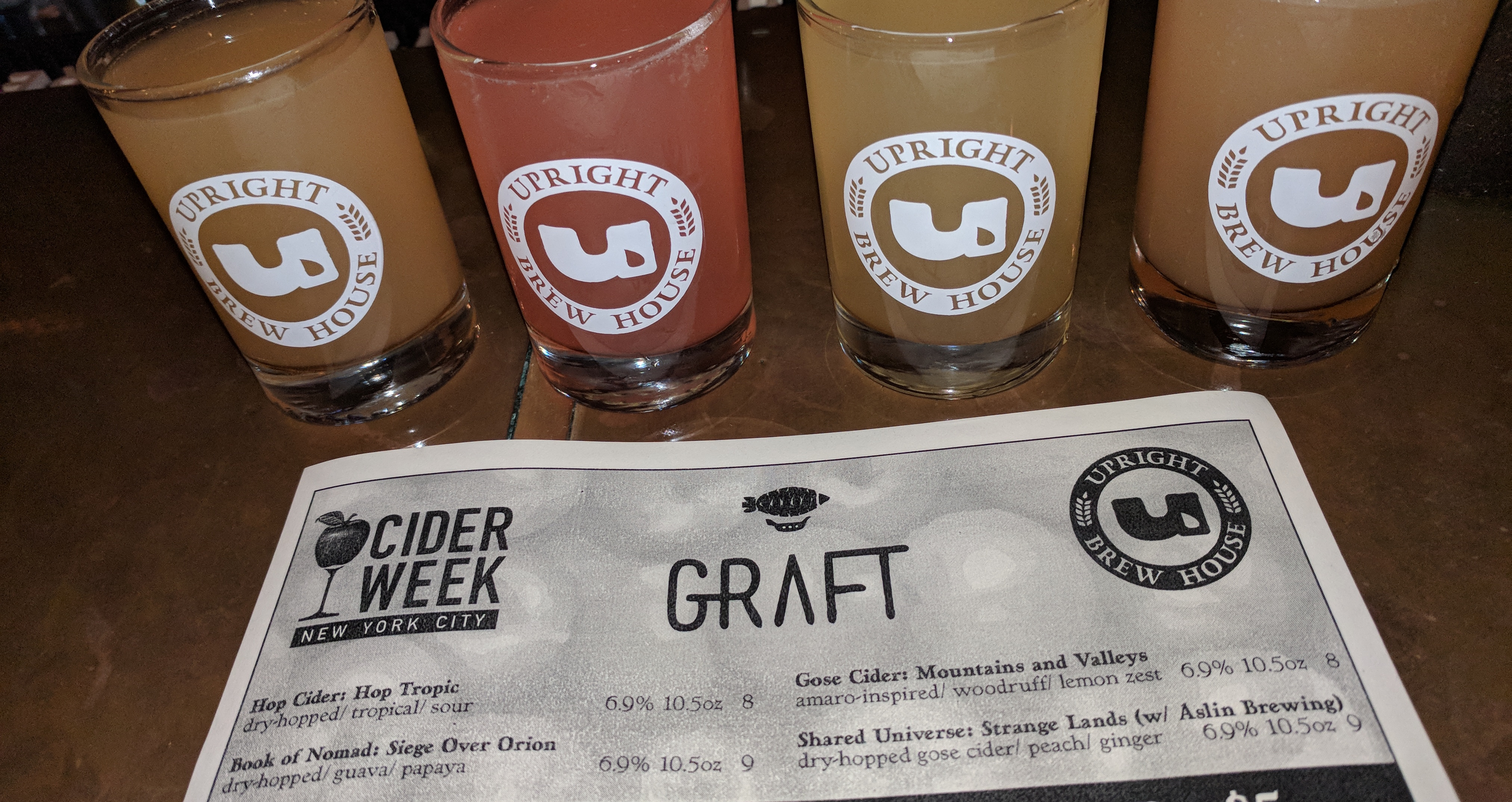 Graft Cider at Upright Brew House