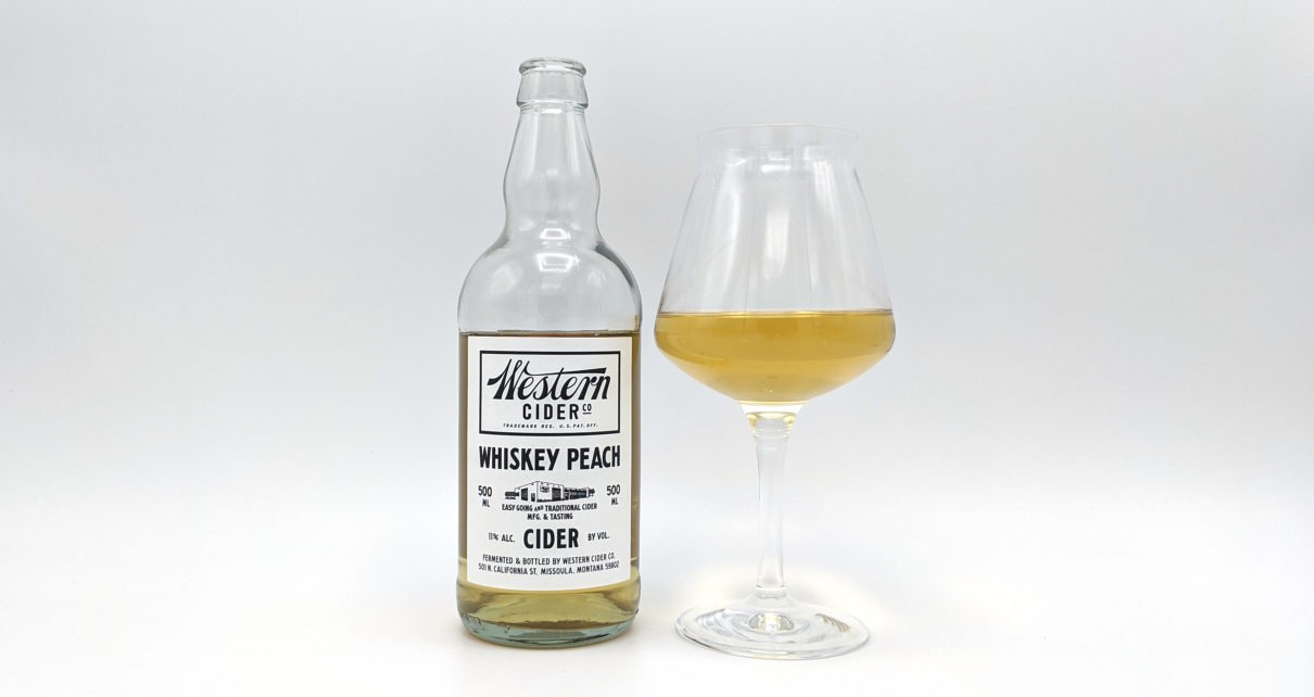 Western Cider Co Whiskey Peach