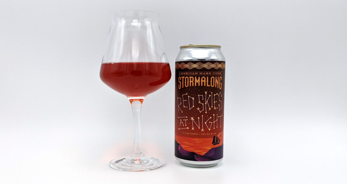 Stormalong American Hard Cider Red Skies At Night