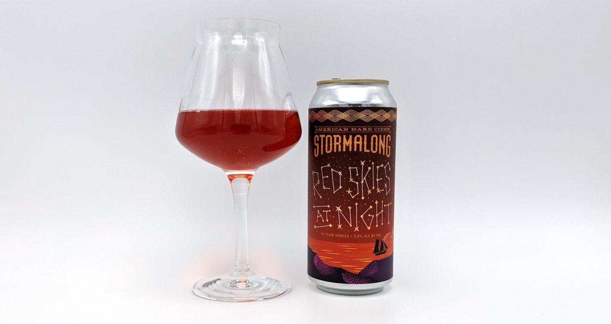 Stormalong American Hard Cider Red Skies At Night
